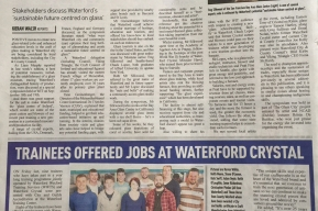 WWTS Trainees Offered Jobs at Waterford Crystal